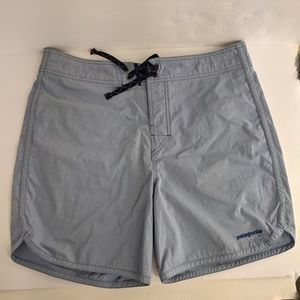 Patagonia Board Shorts Blue Flap Back Pocket Sz 34